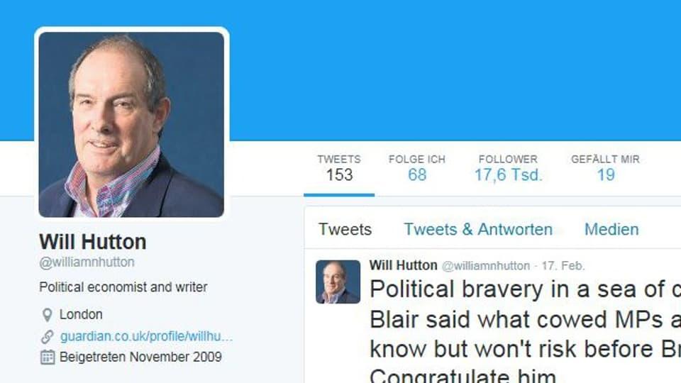 Will Hutton ist Kolumnist bei der britischen Zeitung «The Guardian».