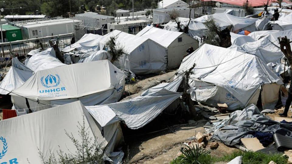 Flüchtlingscamp auf der griechischen Insel Lesbos.
