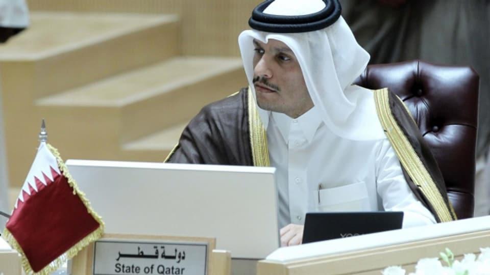 Katars Aussenminister Al-Thani fordert einen «offenen und ehrlichen» Dialog, um die Krise beizulegen.