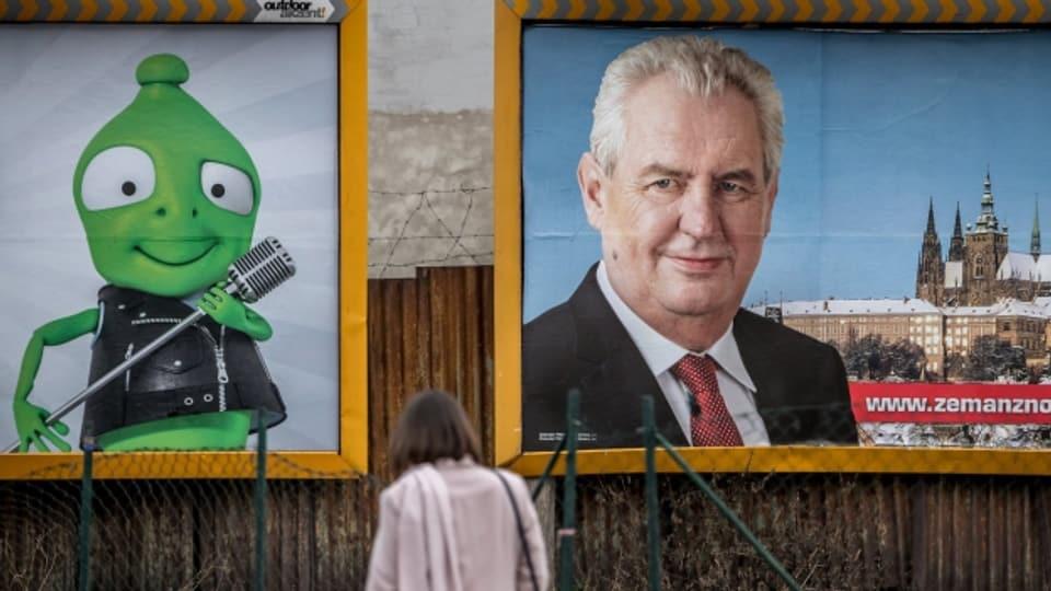 Wird er wiedergewählt? Tschechiens Präsident Miloš Zeman stellt sich am Sonntag zur Wiederwahl.