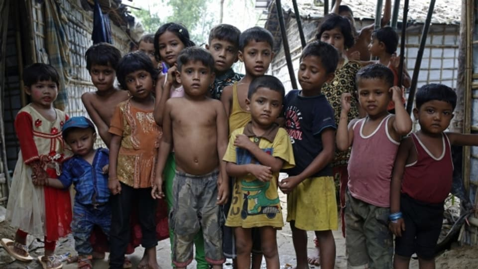 Flüchtlingskinder in Bangladesch.