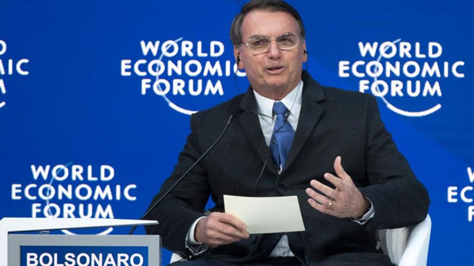 Jair Bolsonaro, Präsident von Brasilien, am WEF im Januar 2019.