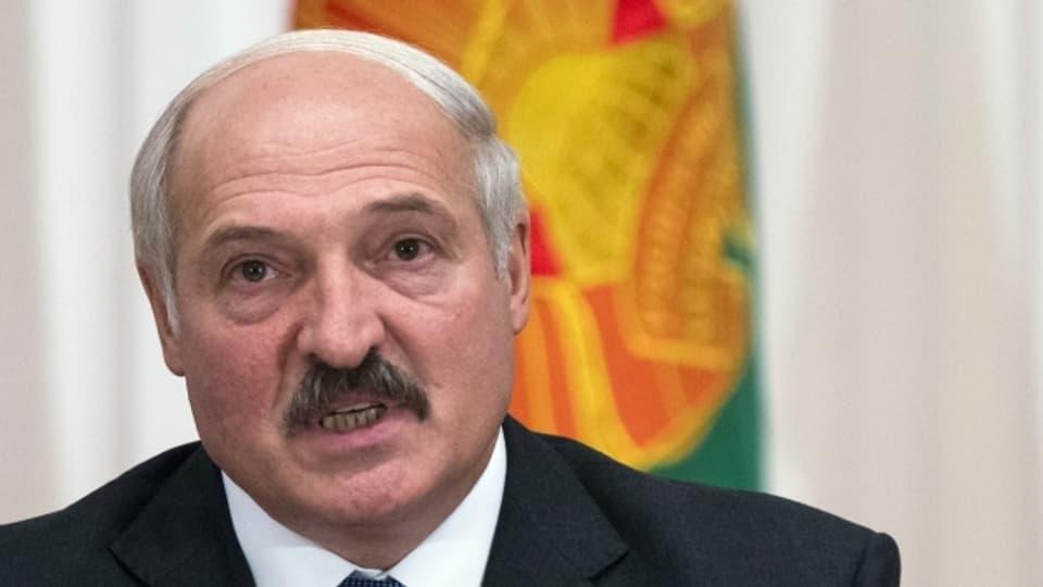 Aljaksandr Lukaschenka, Präsident Weissrusslands.