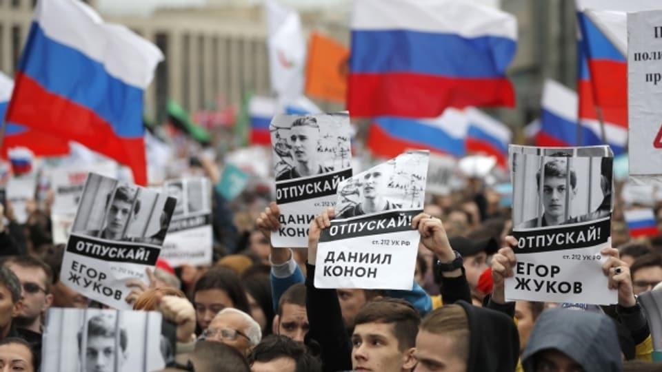 Demonstration der Opposition in Russland.