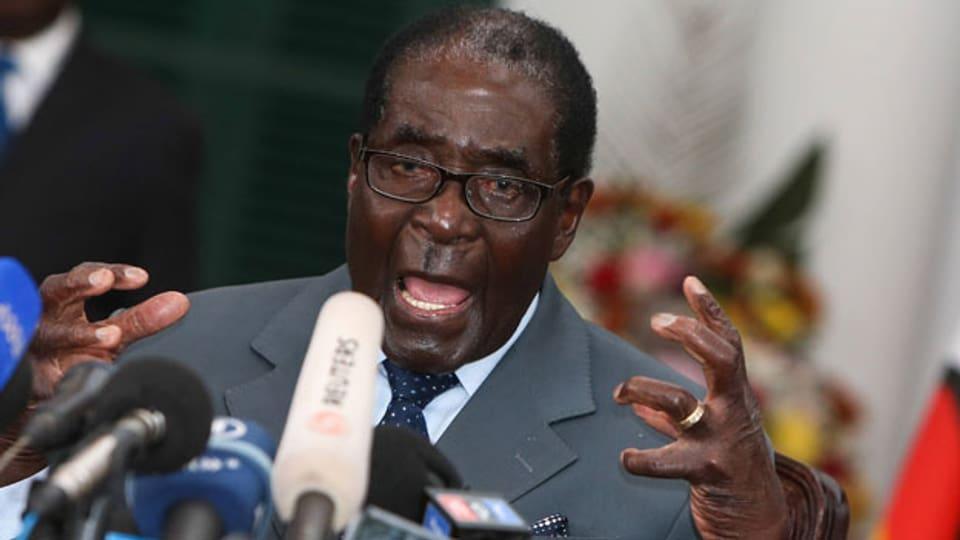Simbabwes Ex-Präsident Robert Mugabe. Archivbild von 2013.