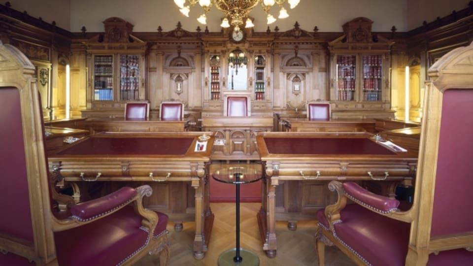 Das Sitzungszimmer des Bundesrats im Bundeshaus.