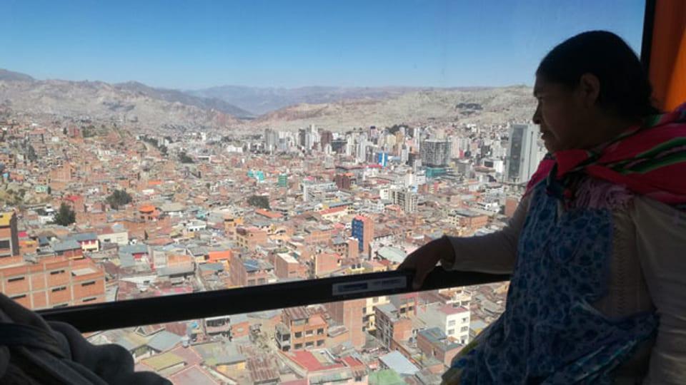 Neue Seilbahnen sind die Stütze des öffentlichen Verkehrs in der Andenstadt La Paz.