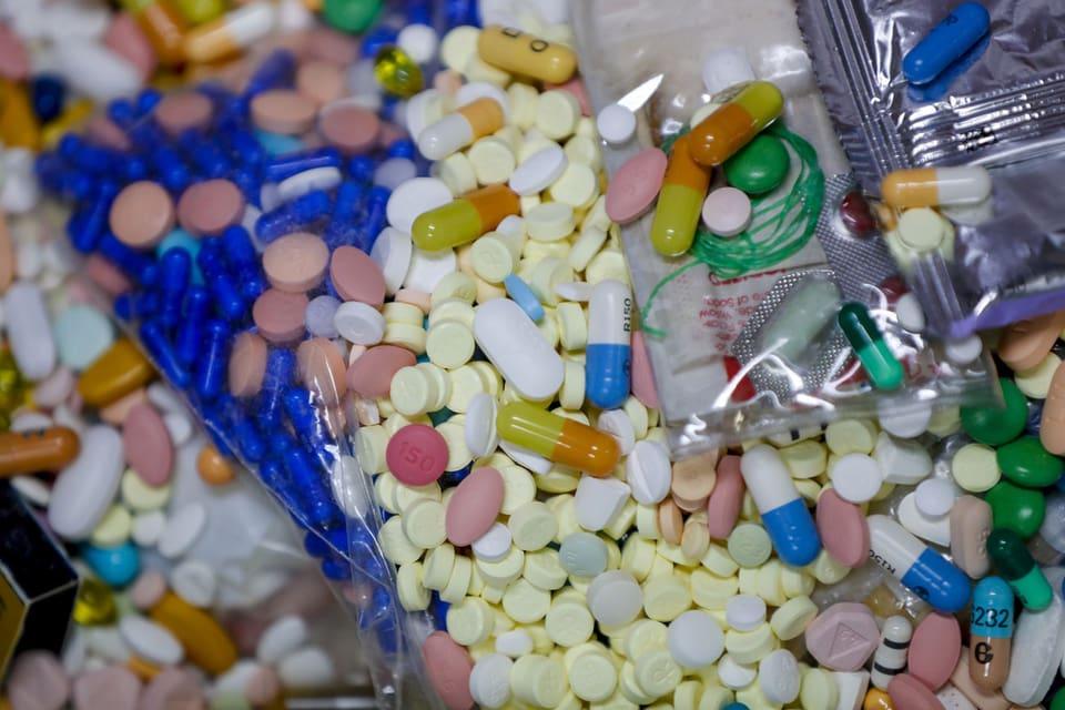Beschlagnahmte Medikamente in Ohio.