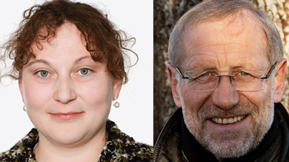 SRF-Theologin Judith Wipfler und der Onkologe, Dr. Herbert Kappauf.