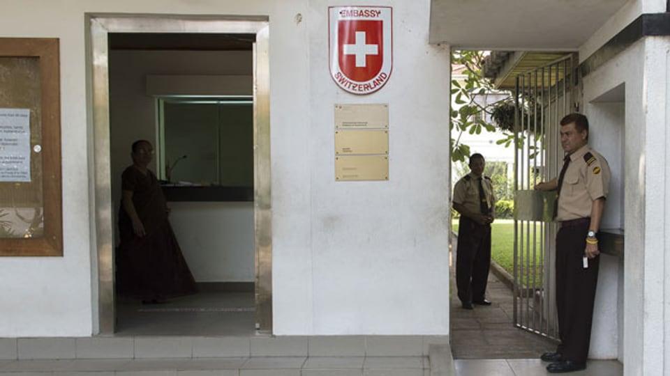 Die Schweizer Botschaft in Colombo, Sri Lanka.