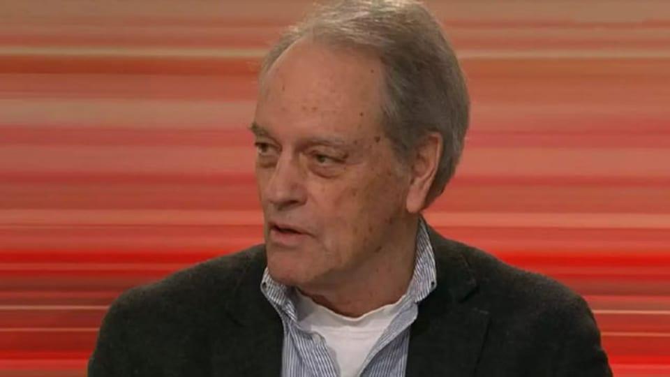 Der Soziologe Walter Hollstein in einer Club-Sendung von im Schweizer Fernsehen SRF im Januar 2019.