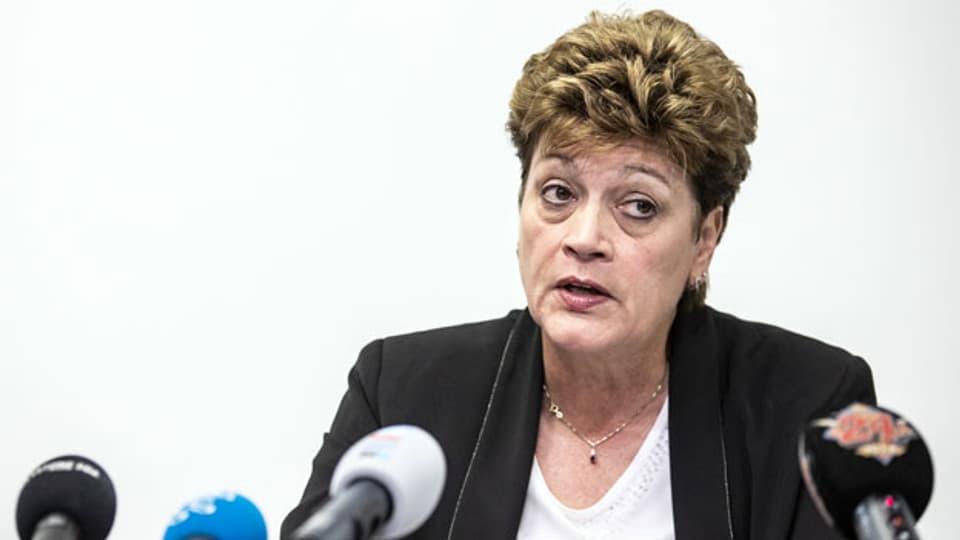 Regierungsrätin Silvia Steiner, Bildungsdirektorin, spricht zur aktuellen Lage Coronavirus am, 13. März 2020 in Zürich.