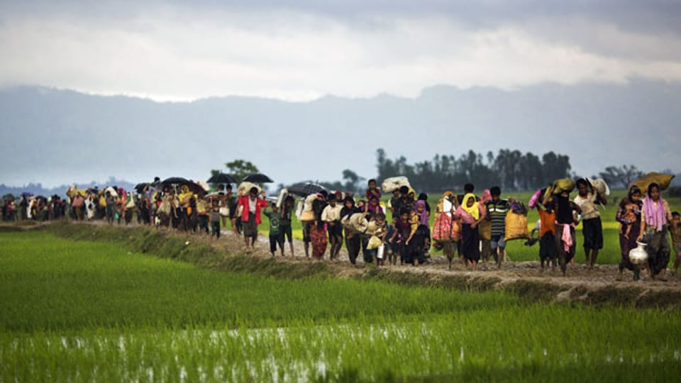 Angehörige der ethnischen Minderheit der Rohingya in Myanmar. Archivbild vom 1. September 2017.