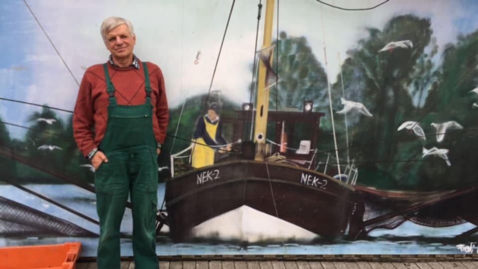Fischer Lothar Buckow fängt kaum mehr Stint in der Elbe