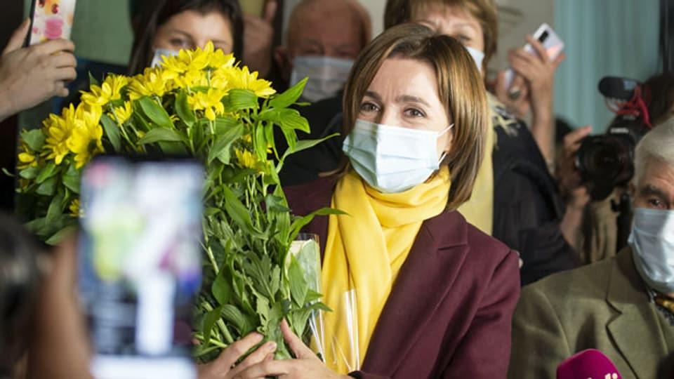 Maia Sandu war bereits Regierungschefin, nun wird die Präsidentin von Moldawien.