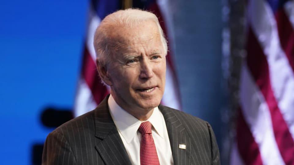 Der zukünftige US-Präsident Joe Biden.