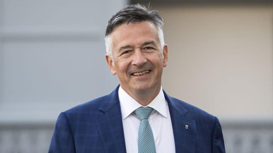 Der Nidwaldner FDP Ständerat , Hans Wicki.
