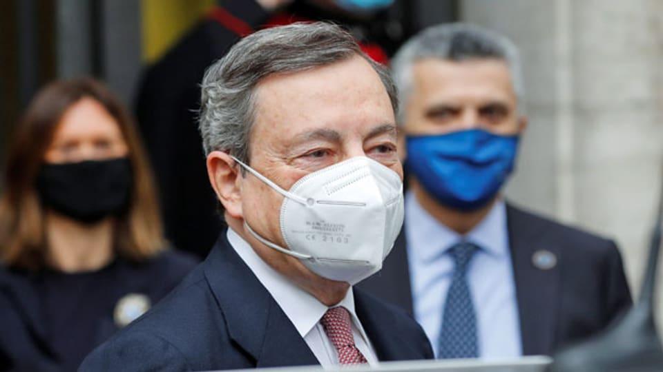 Mario Draghi auf dem Weg in den Senat.