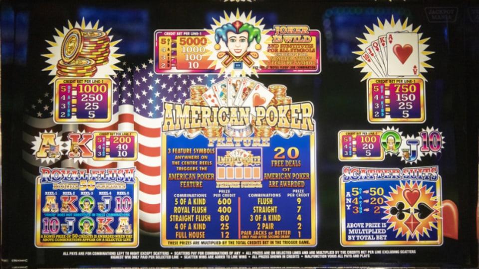 Ein Geldspielautomat des Herstellers Admiral.