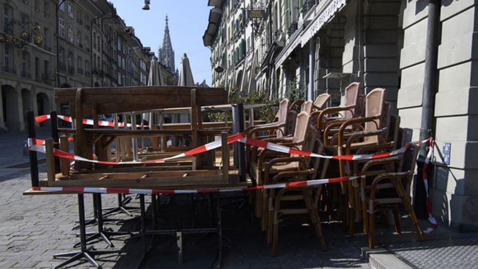 Restaurants und auch Terrassen bleiben vorerst geschlossen