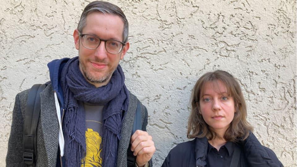 Jonatan Niedrig, Geschäftsführer des Verbandes der Musikclubs und des Festivals Petzi und Anna Aaron, Musikerin.