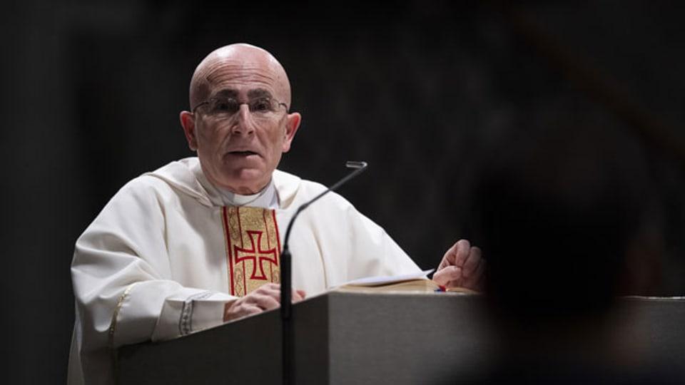 Der neue Churer Bischof Joseph M. Bonnemain, aufgenommen am Montag, 15. Februar 2021, in Chur. Der Papst hat Joseph M. Bonnemain zum Bischof ernannt.