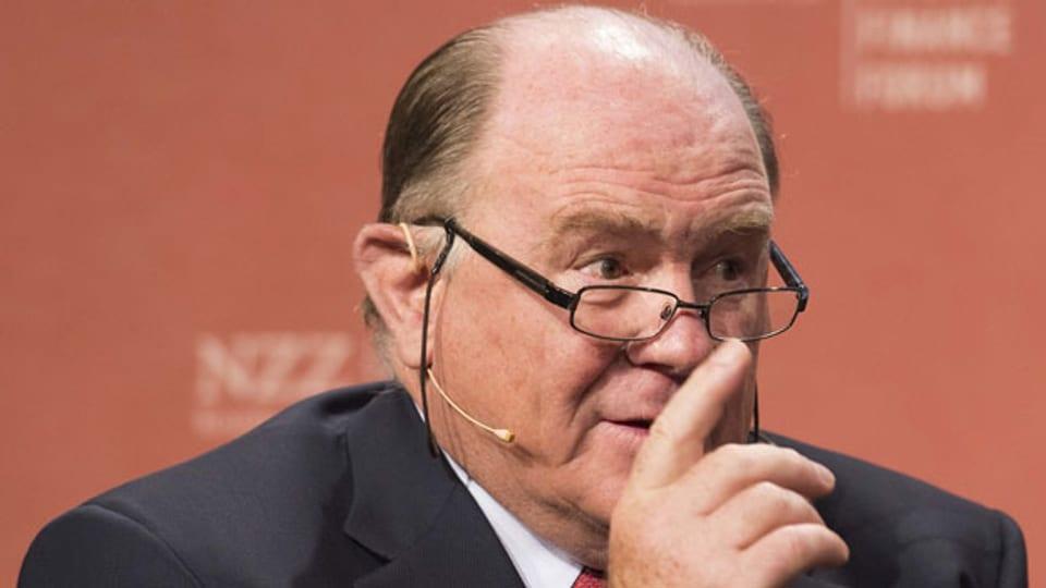 Walter Kielholz, Präsident des Verwaltungsrats Swiss Re, an einer Podiumsdiskussion am 20. Juni 2017 in Bern.