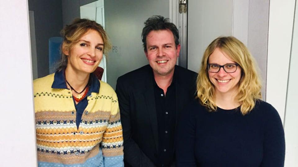 Ivana Pribakovic, Marc Lehmann und Barbara Peter  (von links).
