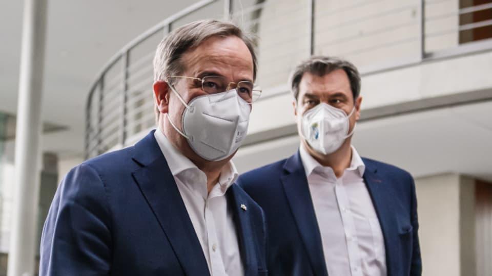 Armin Laschet und Markus Söder sind beide bereit, für die Unionsparteien ins Rennen um das Kanzleramt zu steigen.