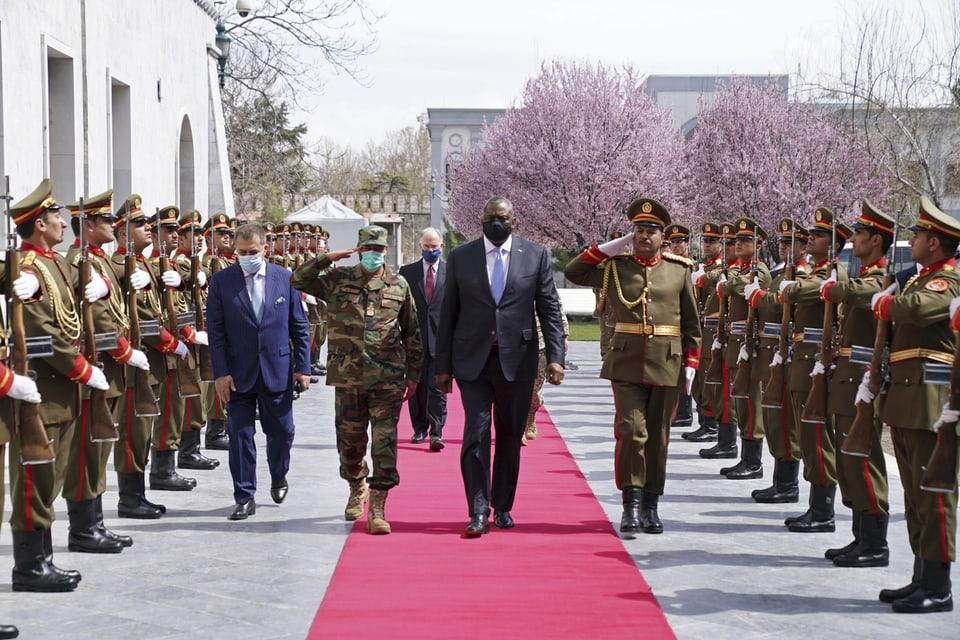 Truppenbesuch von US-Aussenminister Lloyd J. Austin in Kabul, Afghanistan, am 21. März 2021