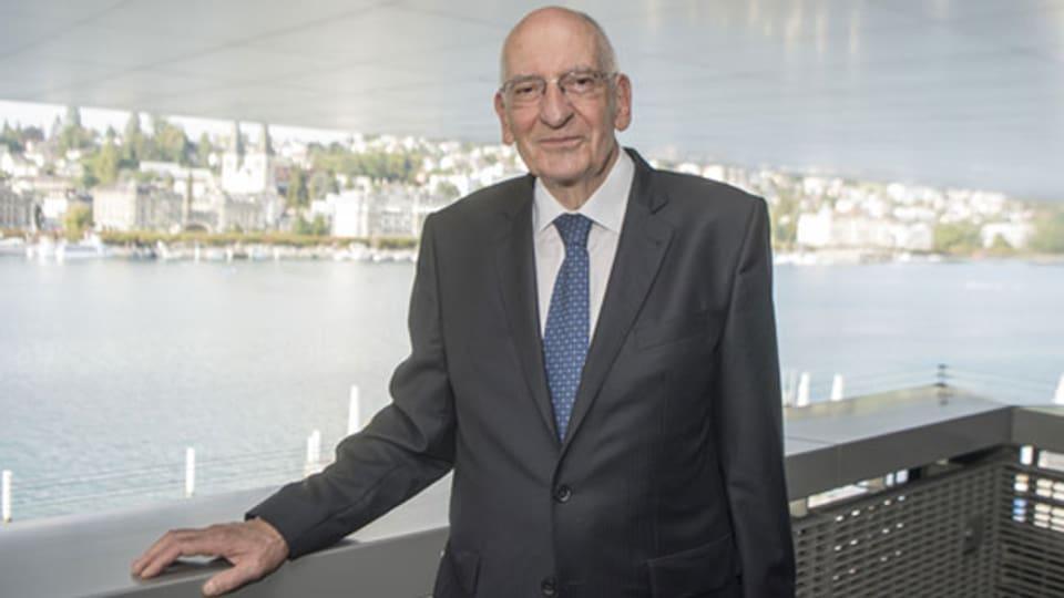 Alt-Bundesrat Pascal Couchepin anlässlich des jährlichen Treffens der Alt-Bundesräte während des Lucerne Festivals am 22. August 2018 im KKL in Luzern.