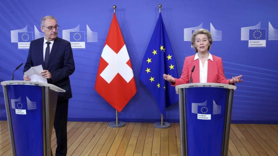 Die Verhandlungen zum Rahmenabkommen zwischen der EU und der Schweiz