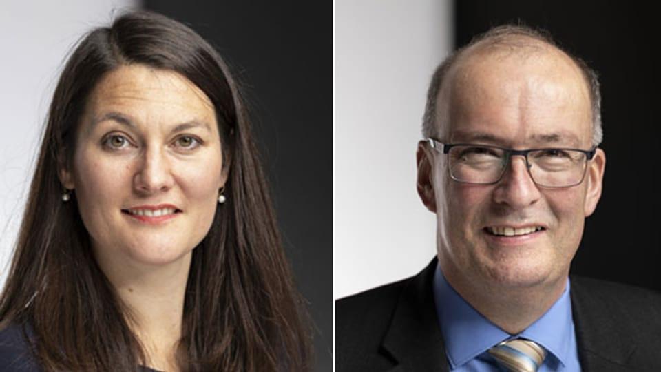 Tiana Moser, Nationalrätin und Fraktionschefin der Grünliberalen (links) und Markus Ritter, Nationalrat Die Mitte und Präsident des Schweizerischen Bauernverbandes.