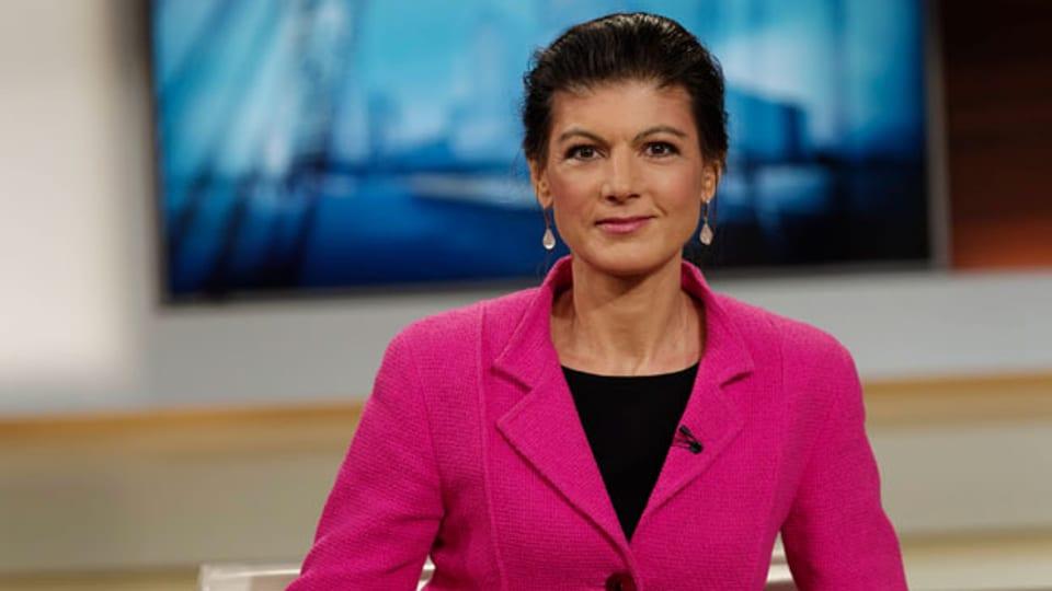 Sahra Wagenknecht, deutsche Links-Politikerin.