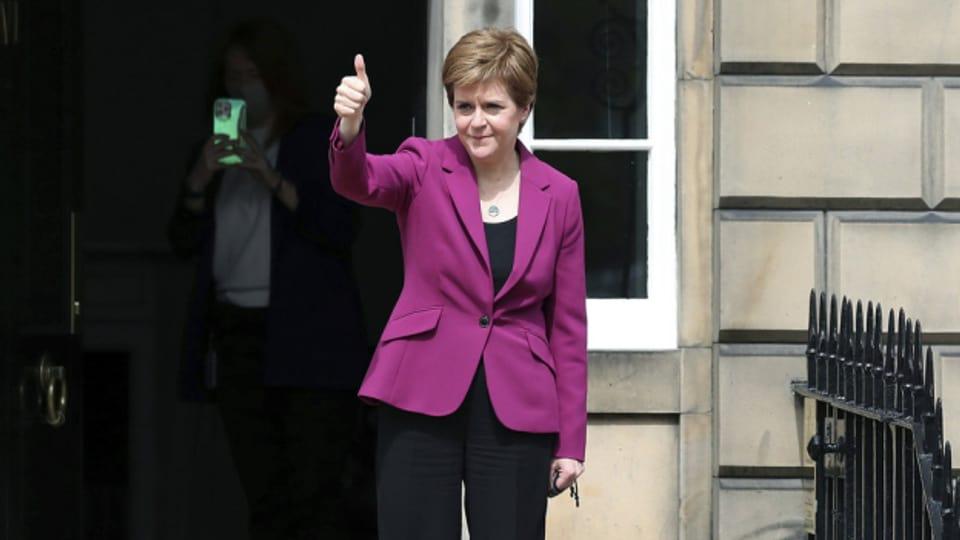 Schottlands Regierungschefin Nicola Sturgeon am 9. Mai 2021 in Edinburgh.