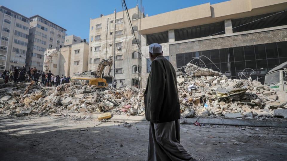 Zerstörte Häuser in Gaza Stadt.