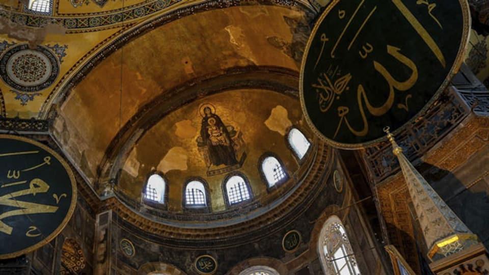Arabische Schriftzeichen neben der Jungfrau Maria: Die Hagia Sophia ist für die Geschichte des Islams und des Christentums gleichermassen bedeutsam.