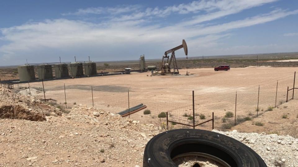 Im Südosten von New Mexico fördert eine der vielen Pumpen Erdöl aus dem sogenannten «Pemian Basin».