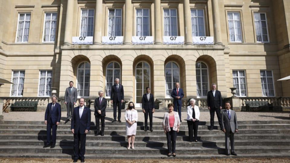 Die G7-Finanzminister in London.