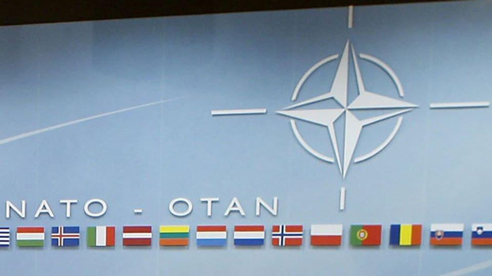 Das Emblem der Nato.