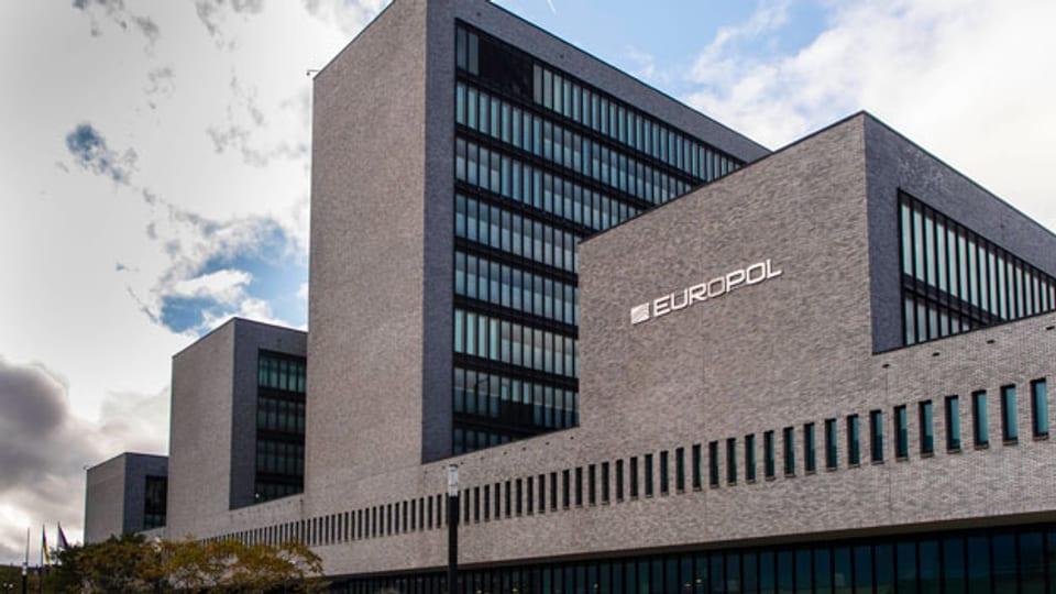 Das Gebäude des Europäischen Polizeiamtes Europol in Den Haag, Niederlande.