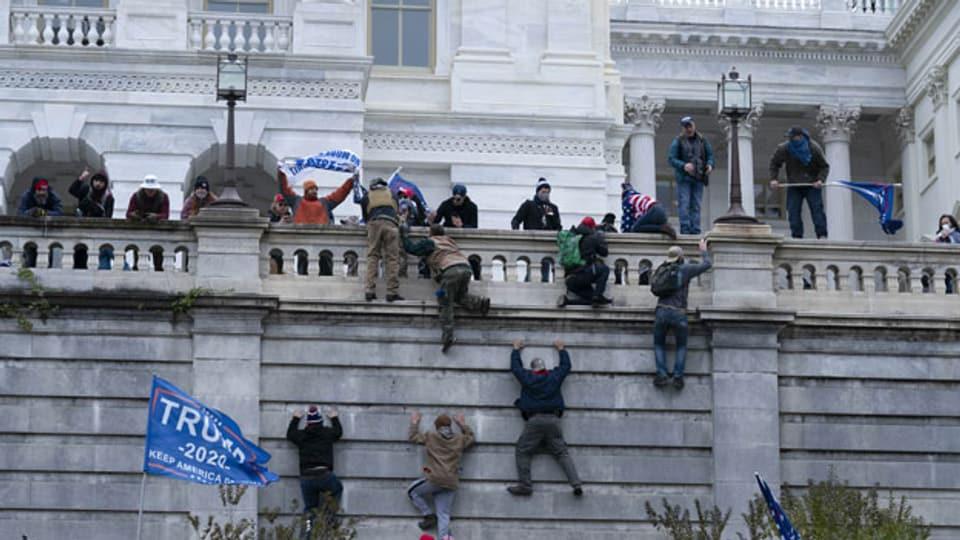Die Stürmung des US-Kapitols in Washington am 6.2.2021.