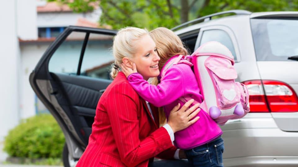 Ein «Kiss and Ride»-Platz für Elterntaxis.