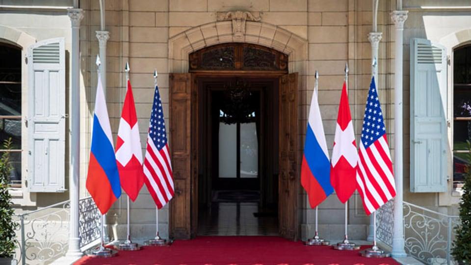 Die Villa La Grange in Genf, in welcher sich US-Präsident Joe Biden und der russische Präsident Wladimir Putin am 16. Juni 2021 treffen werden.