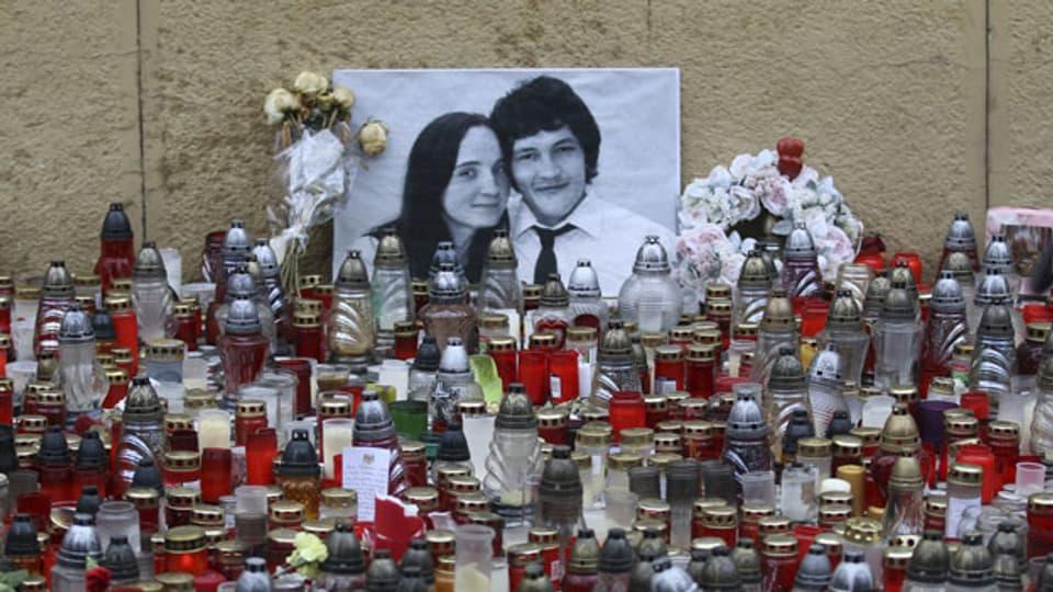 Der im Jahre 2018 ermordete Journalist Jan Kuciak mit seiner ebenfalls ermordeten Freundin.
