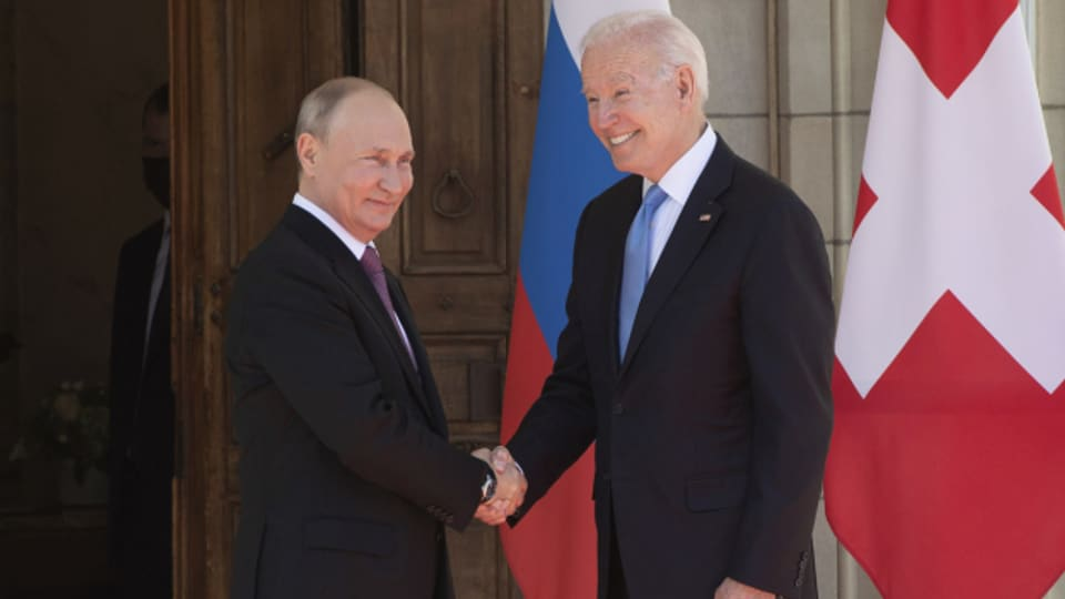 Die Präsidenten Joe Biden und Wladimir Putin am Gipfeltreffen in Genf.