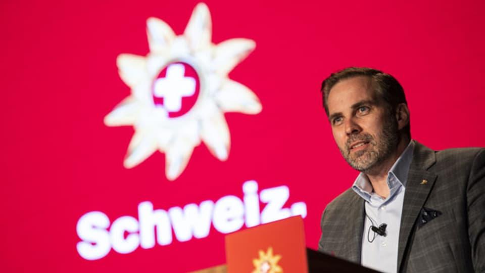 Martin Nydegger, Direktor Schweiz Tourismus spricht an der Wintermedienkonferenz der Schweizer Tourismusbranche am Montag, 23. November 2020 in Zürich.