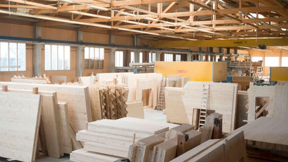 Holzverarbeitungsfabrik.