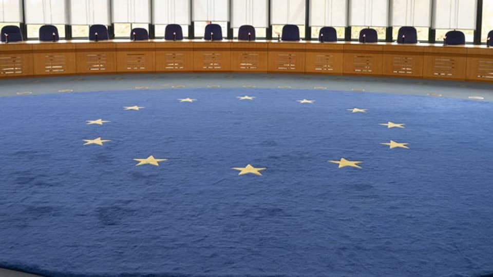 Blick in den Saal des Europäischen Gerichtshofes.