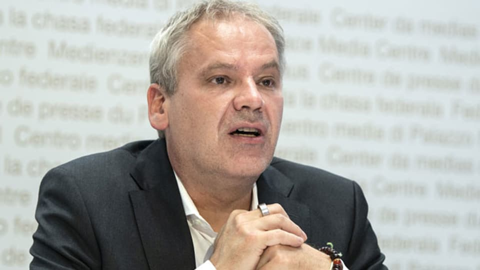 Patrick Mathys, Leiter Sektion Krisenbewältigung und internationale Zusammenarbeit, Bundesamt für Gesundheit BAG, spricht an einem Point de Presse zur Covid 19 Situation, am 20. Juli 2021 in Bern.